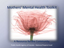 Mothers Mental Health Toolkit Powerpoint Slides