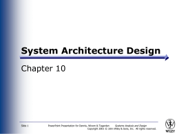 Systems Analysis and Design Allen Dennis and Barbara …