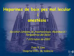 Tromboprofilaxis: HBPM y sus implicaciones en anestesia
