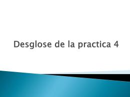 Desglose de la practica 4