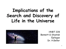 Implications of the Search and Discovery