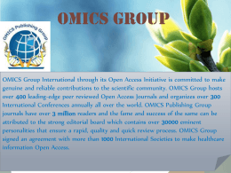 Spotters - OMICS Publishing Group