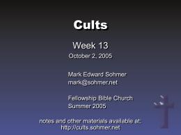 Cults - Sohmer