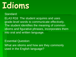 88 . Idioms: What Does This Mean?