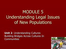 MODULE 5.0 Understanding Legal Issues of Ne