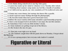 Figurative Language - Kentucky Department of Education