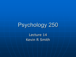 Psychology 250 - Orange Coast College