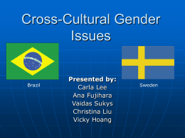Cross-cultural Gender Issue