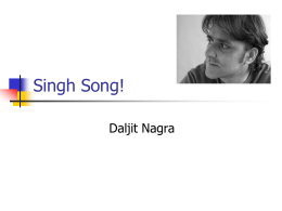 Singh Song! - Wikispaces