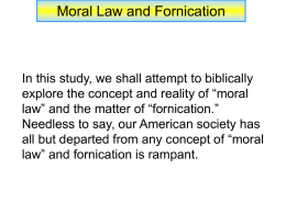 Moral Law and Fornication