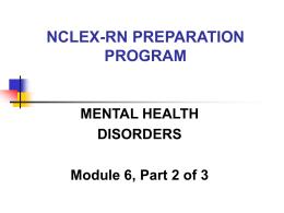 NCLEX PREPARATION PROGRAM MODULE 7