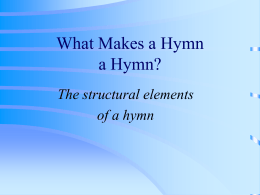 What is a hymn text?
