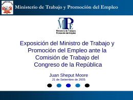Propuesta de Reforma Laboral