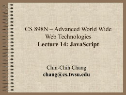 CS 898n - Lecture 11