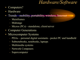 Hardware/Software - California State University, Los …