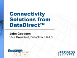 DB-11: Connectivity Slutions from DataDirect