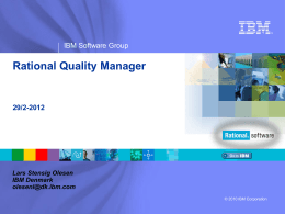 IBM Rational software presentation template