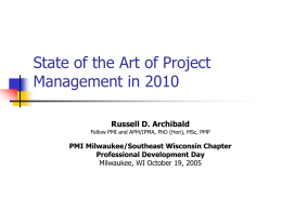 State of the Art of Project Management: 2003
