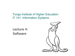 IT 141 – Information Systems 1
