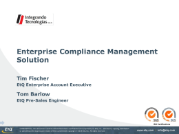 Enterprise Quality Management Solution