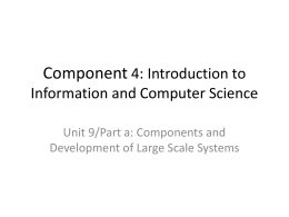 Component 4: Introduction to Information and Computer …