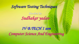 Software Testing Methoidology