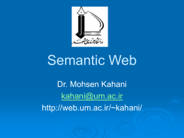 Semantic Web - Ferdowsi University of Mashhad