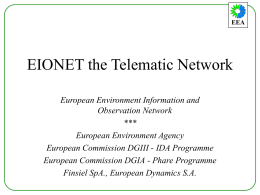 EIONETthe Telematic Network
