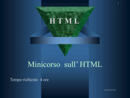 Minicorso sull' HTML