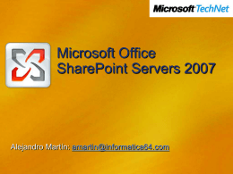 Microsoft Office SharePoint Servers 2007