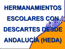 HERMANAMIENTOS ESCOLARES CON DESCARTES DESDE …