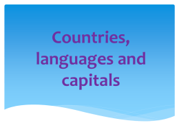 Countries, languages and capitals