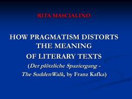 RITA MASCIALINO - Franz Kafka Italia