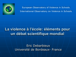 School Climat, social exclusion and victimisation