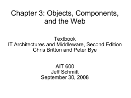 Chapter 3: Objects, Components, and the Web