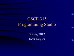 CPSC 315 Programming Studio