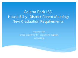 Galena Park ISD High School Registration and Graduation
