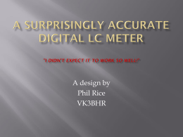 A Surprisingly Accurate Digital LC Meter (I didn't expect