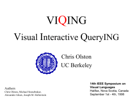 VIQING: Visual Interactive QueryING