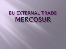 EU External Trade MERCOSUR