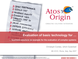 Evaluation of basic technology for