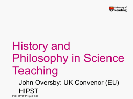 History and Philosophy for Science Teaching