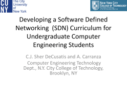 Developing a Software Defined Networking (SDN) …