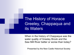 The History of Horace Greeley, Chappaqua and its Waters