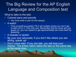 The Big Review for the AP English Language and …