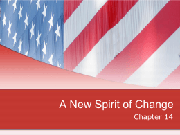A New Spirit of Change