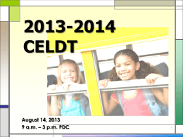 2007-2008 CELDT Training