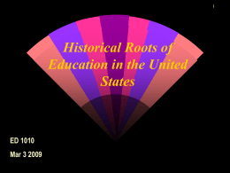 Chapter 5 Education in the United States: Its Historical …