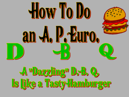 How to Do an EHAP DBQ