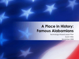 A Place in History: Famous Alabamians